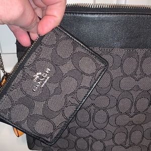 Coach Crossbody with matching ID wallet